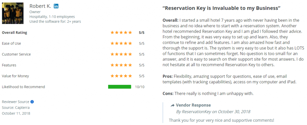 ReservationKey is Invaluable to my business